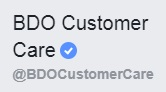 bdo customer care